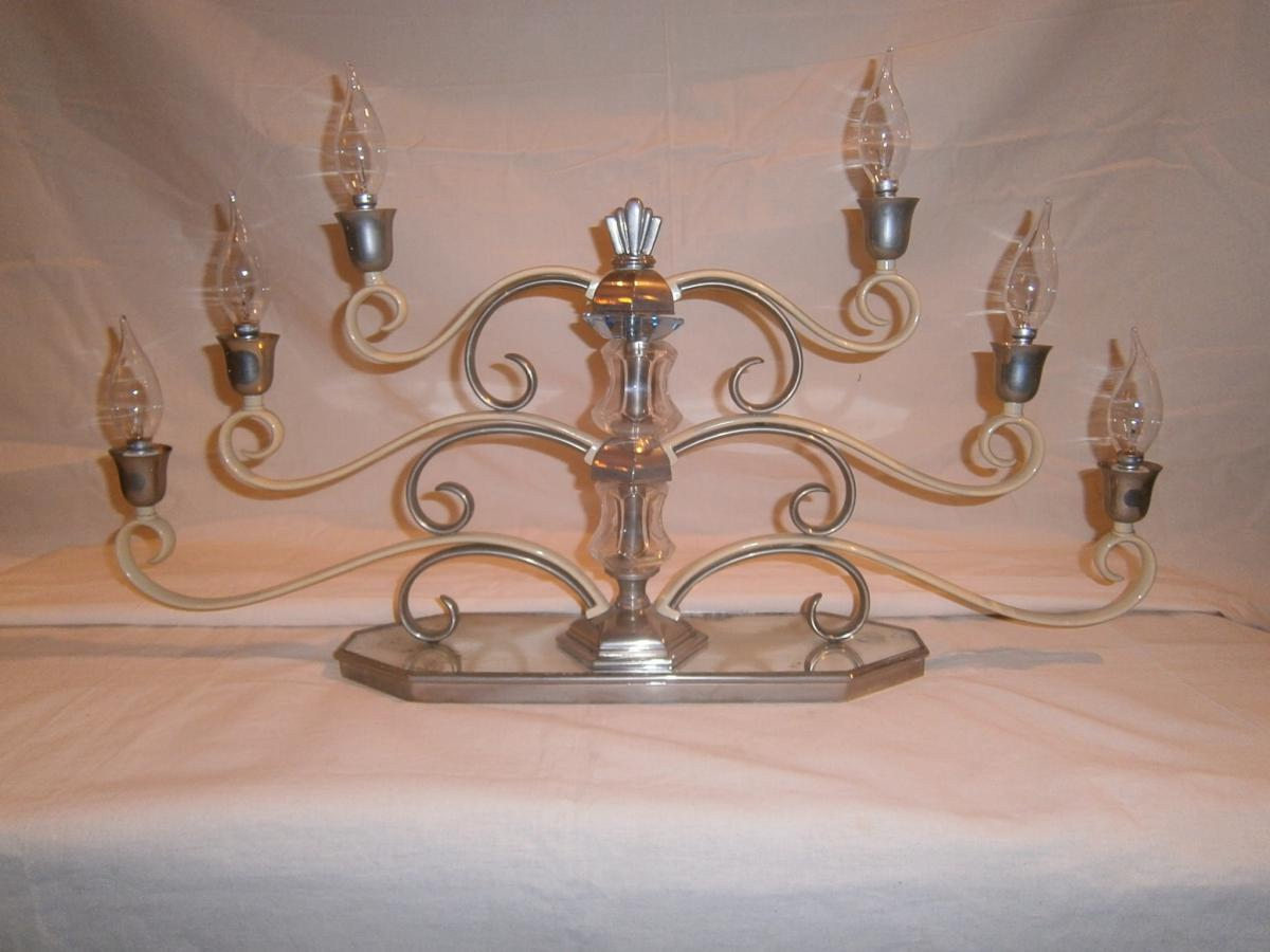 Grande Table Lamp Style Ship, Art Deco