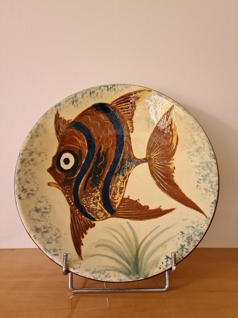 Earthenware Dish Signed Puygdemond