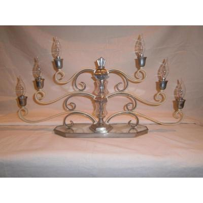 Grande Lampe à Poser Style Paquebot , époque Art Déco
