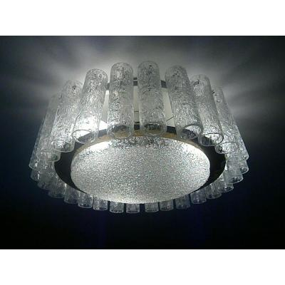 "Murano Chandelier Crystal 70 Years, Model ""tronchi"""