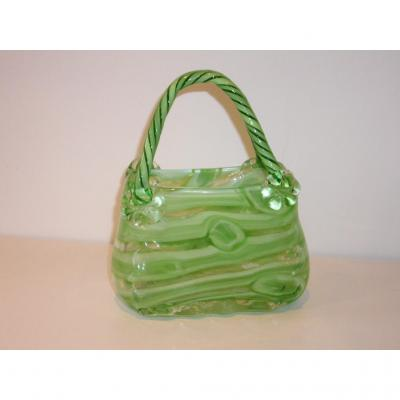 Murano, Rare Glass Vase Shaped Basket
