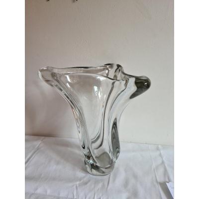 Grand Vase En Cristal époque XXème Siècle