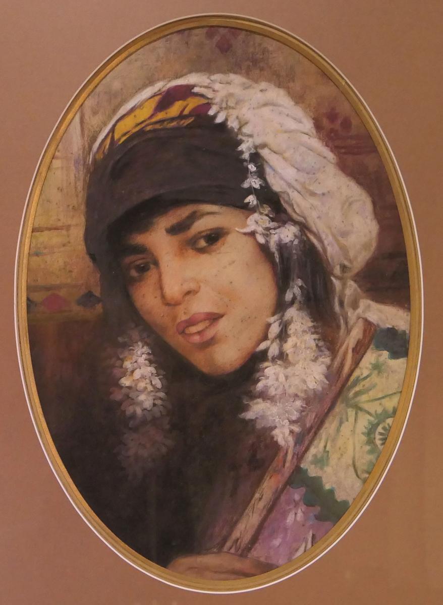 """Pastel """"portrait De Femme Berbère"""""""