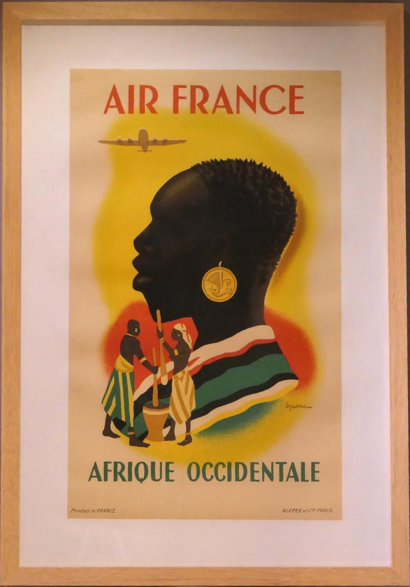 Affiche Air France - Afrique Occidentale-photo-2