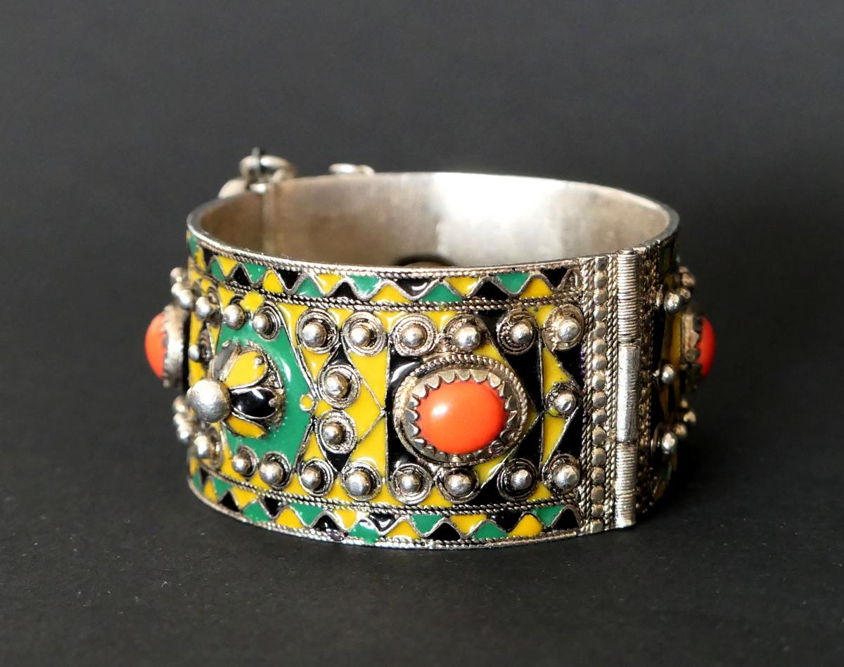 Bracelet High Kabylie In Silver And Email