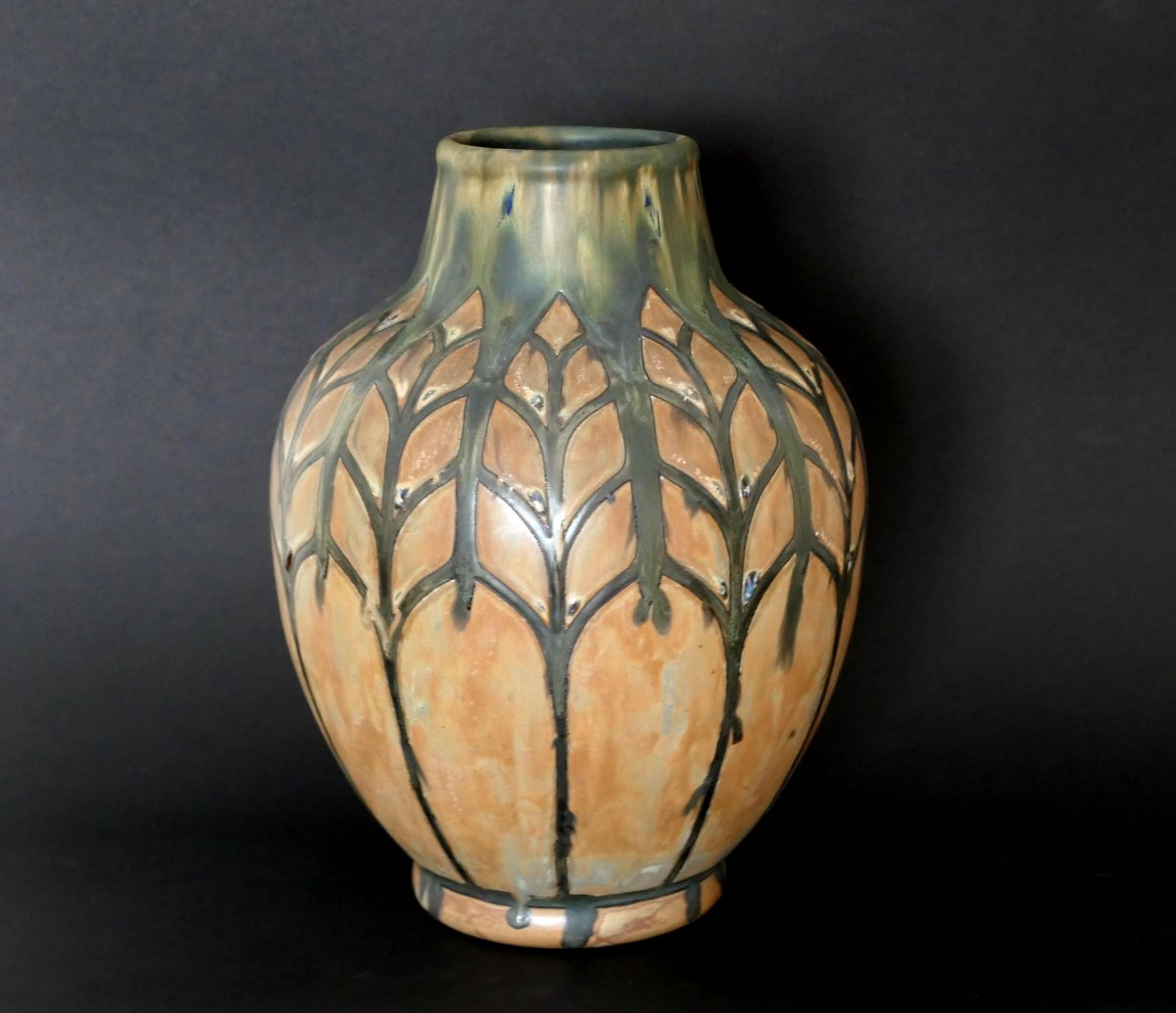 Stoneware Vase - Charles Catteau - Africanist Decor-photo-2