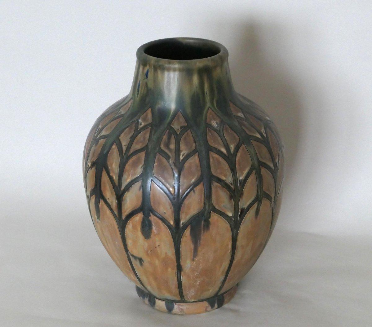 Stoneware Vase - Charles Catteau - Africanist Decor-photo-1