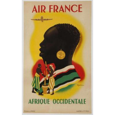 Affiche Air France - Afrique Occidentale
