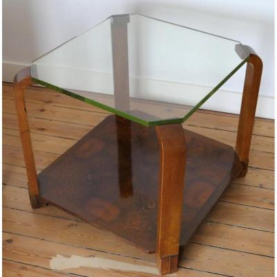 Art-deco Pedestal Table - Maurice Allet