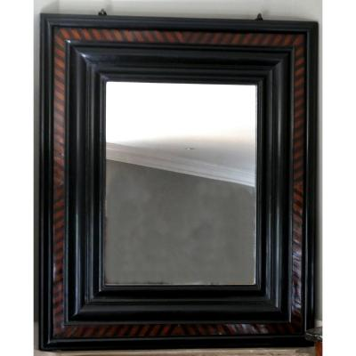 Large Mirror Wood Molded And Parqueted