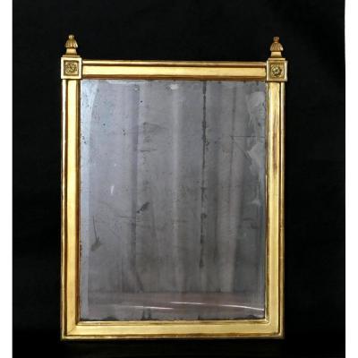 Miroir En Bois Sculpté Doré