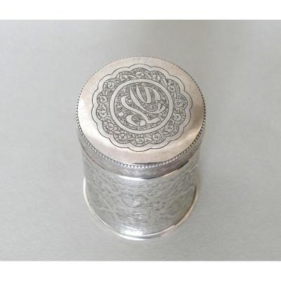 Cylindric Sterling Silver Box - Iran