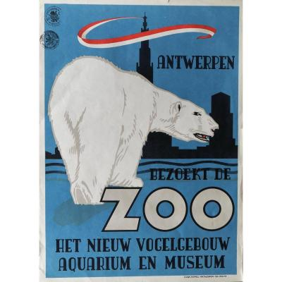 Poster Antwerp Zoo Lithography