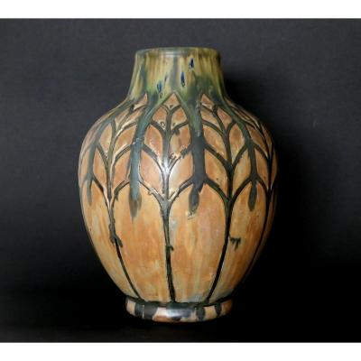 Stoneware Vase - Charles Catteau - Africanist Decor