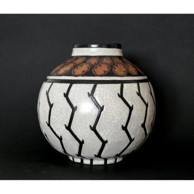 Ch. Catteau - Earthenware Vase D776