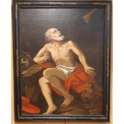 The Vision Of Saint Jerome.  Follower Of José De Ribera.oil On Canvas. Baroque.17th-18th Centur