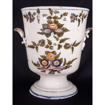 Baroque Ceramic Vase. Pasquale Antonibon Alle Nove Factory. Italy. Century XVIII.