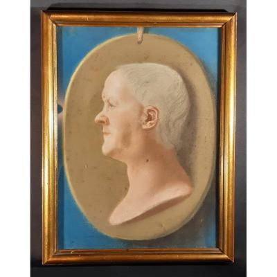 Portrait De Gentilhomme. Pastel Sur Papier. Angleterre. George III. 18e-19e Siècle.