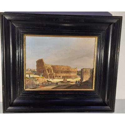 Le Colisée. Rome. Le Colisée. Rome. Huile sur toile. 19ème si. 19ème Siècle. Grand Tour Veduta.