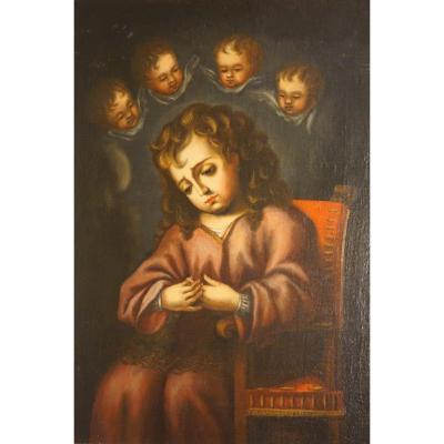 Enfant Jésus De l'épine. Ecole Espagnole. Âge Baroque. Andalousie, Siècle  XVII - XVIII.