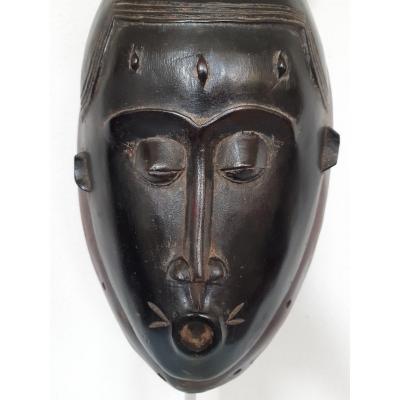 Masque Rituel Baoulé. Côte d'Ivoire. Afrique. Bois. XXe Siècle.