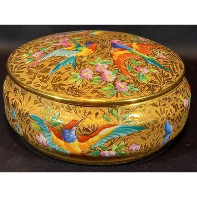 Porcelain Box. Signed By Le Tallec. Artist Jn. France.  1960.