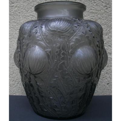 René Lalique - Vase Domrémy Chardons