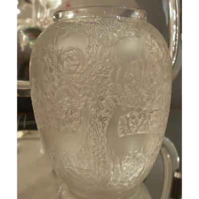Lalique - Vase Biches