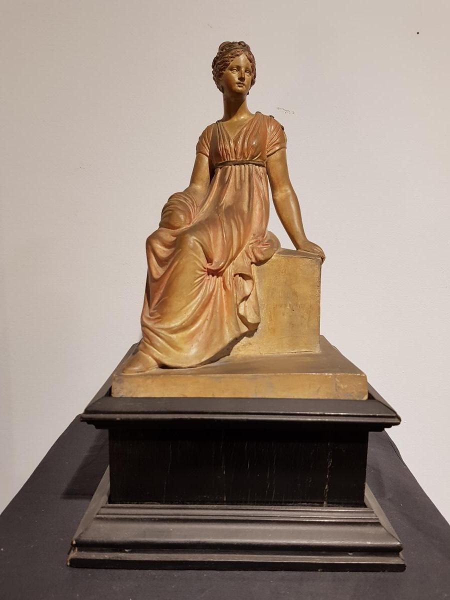 Statuette En Biscuit Polychrome - Fr. Werner