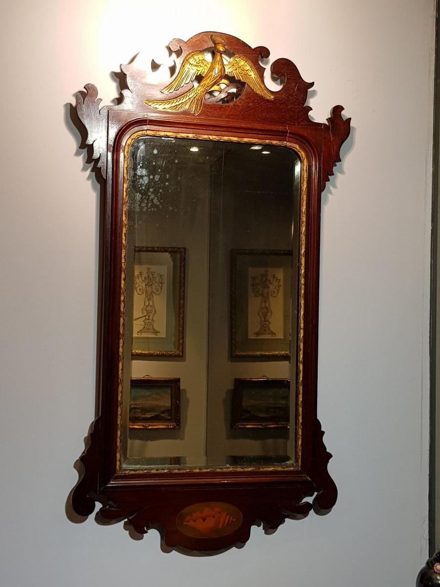 Miroir Anglais En Acajou Vers 1800