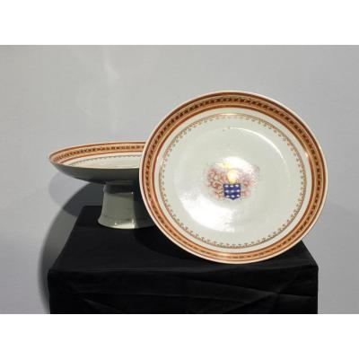 Coupes En Porcelaine De Chine Circa 1820