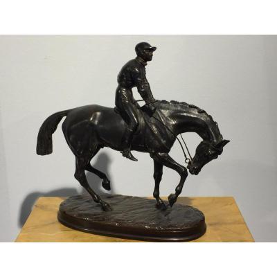 Jockey Par Victor Chemin (1825 - 1901)
