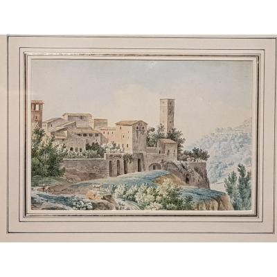 19th Century Watercolor Engraving