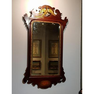 English Mahogany Mirror Around 1800