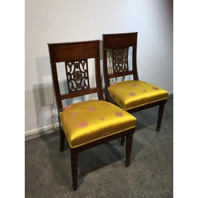 Pair Of Chairs Attributed To Jacob Desmalter