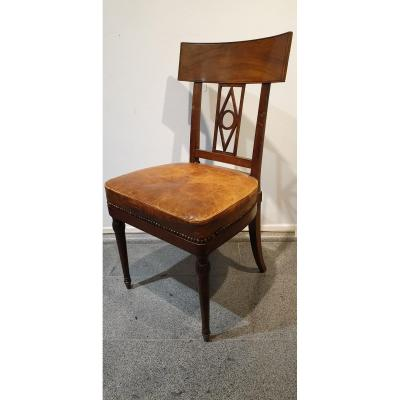 Mahogany Chair Signed G. Jacob