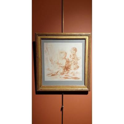 Sanguine - Gabriel Jacque De Saint-aubin (1724-1780)