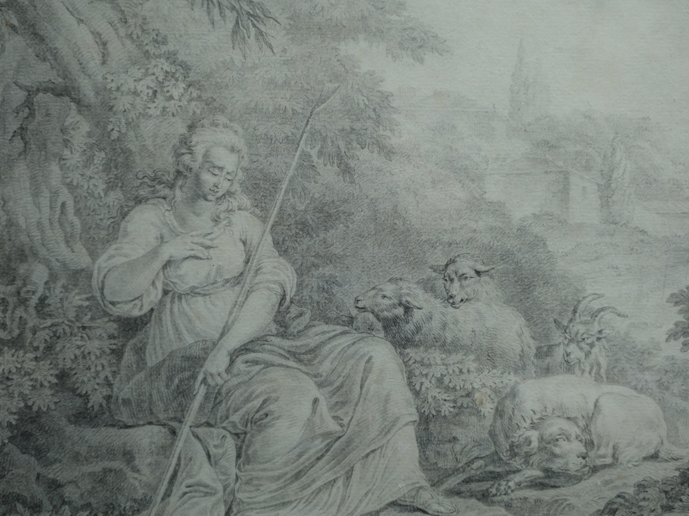 Grand Drawing, Attributed To Jean-baptiste Huet (1745-1811)