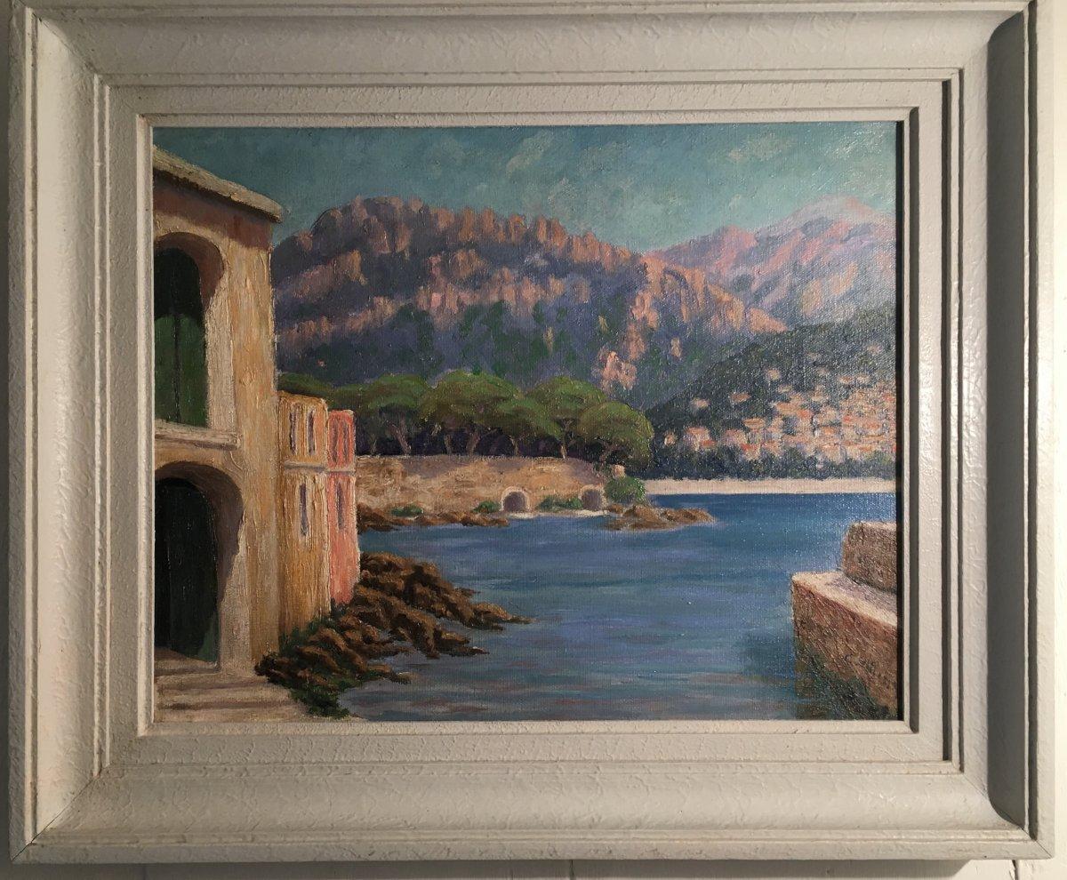 C.gillet XIX-xx Th Sea Front In The Mediterranean
