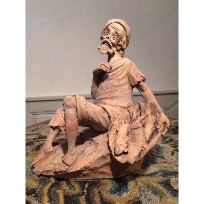 Sculpture En Terre Cuite Signée Paoletti