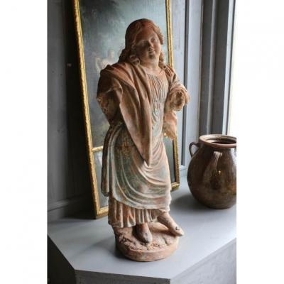 Statue En Terre Cuite XVII ème