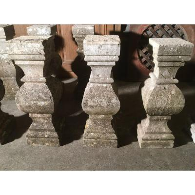 9 18th Century Stone Balusters