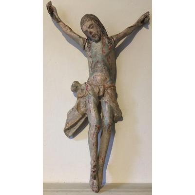Christ In Polychrome Wood Spain XVI Or XVII
