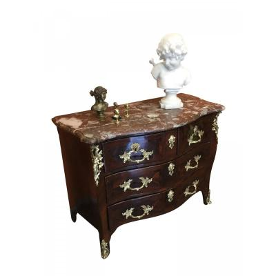 Louis XV Period Commode In Rosewood