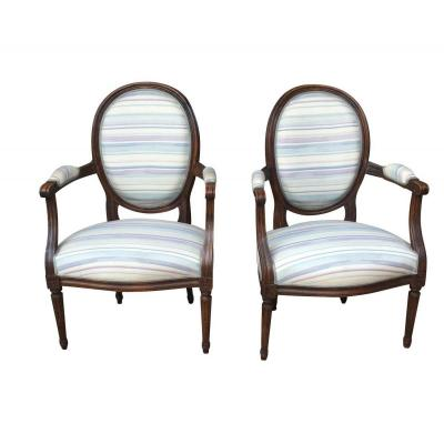 Suite Of 4 Louis XVI Armchairs