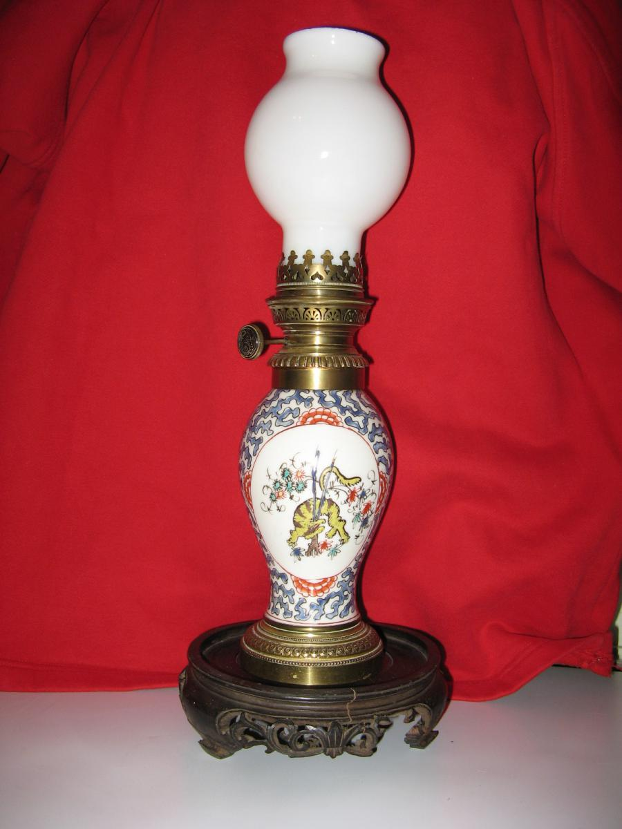 Lampe p trole chinoise avec m che fin 19 me luminaires - Meche de lampe a petrole ...