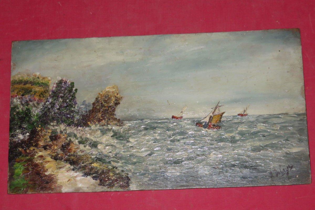 Petite  Marine, tableau époque début 20ème.
