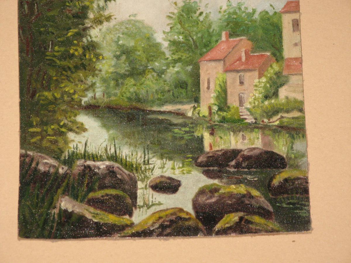 Peinture l 39 huile paysage 20 me tableaux paysages for Peinture a tableau