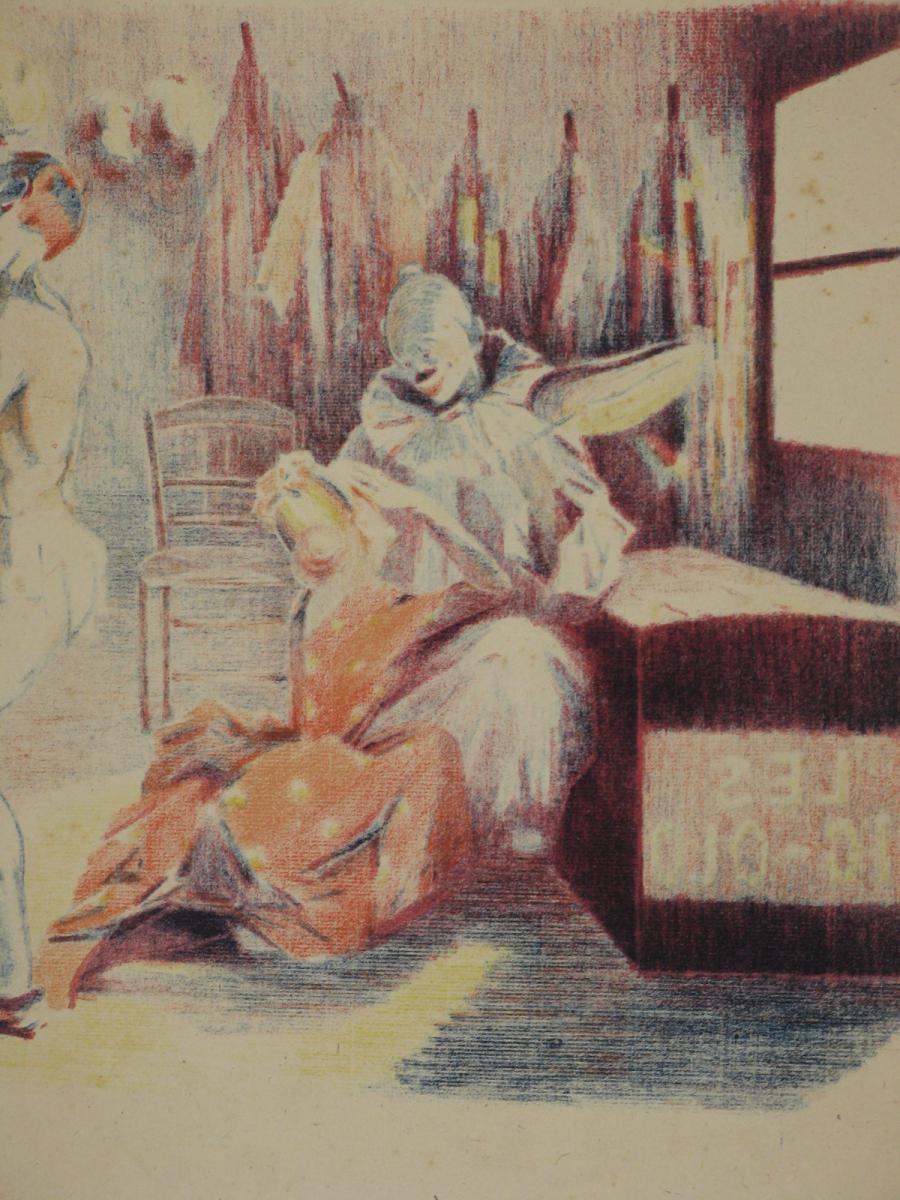 Lithographie Originale, De Wagner, La Loge Du Clown, 20ème.-photo-3