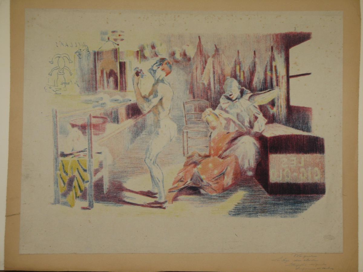 Lithographie Originale, De Wagner, La Loge Du Clown, 20ème.-photo-4